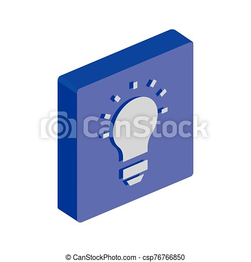 button with light bulb idea isolated icon - csp76766850