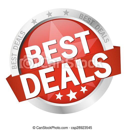 button with text Best Deals - csp28923545