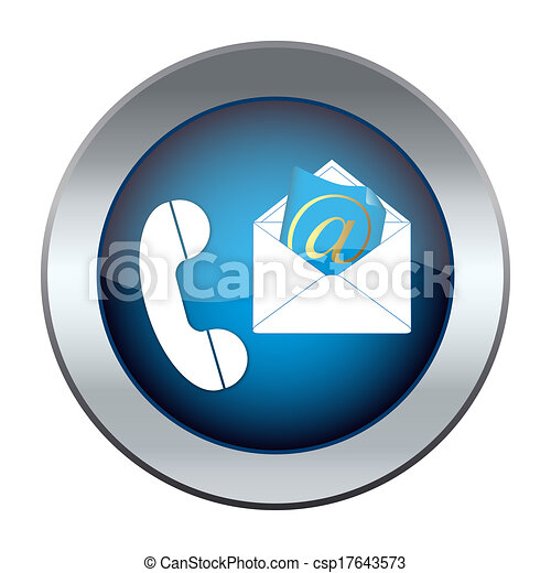 button with the phone and e-mail - csp17643573