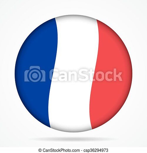 button with waving flag of France - csp36294973