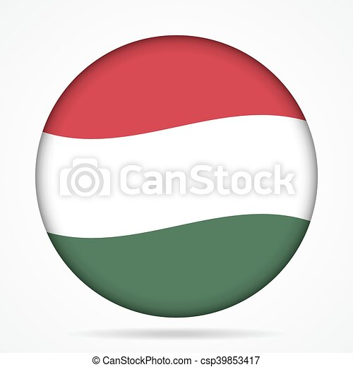 button with waving flag of Hungary - csp39853417