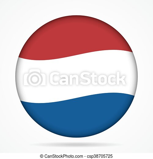 button with waving flag of Netherlands - csp38705725