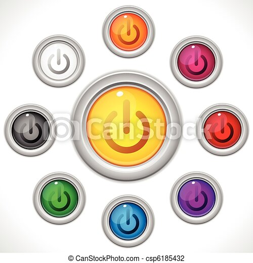 Buttons Colors Web On Off - csp6185432