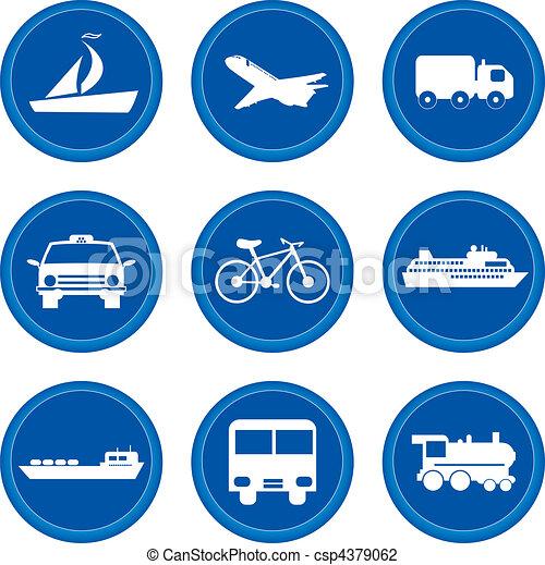 buttons., concept, vervoeren - csp4379062