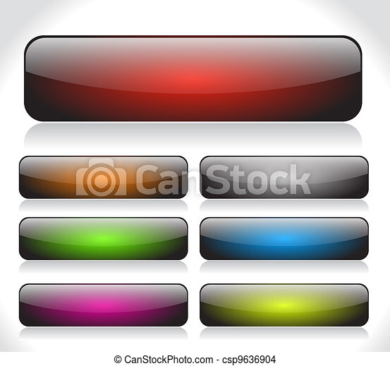 Buttons for web. Vector. - csp9636904