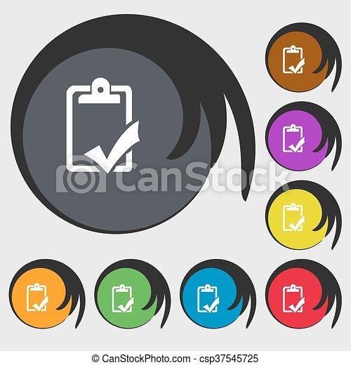 Buttons., gramática, completo, trabajo, señal, símbolos, control ...