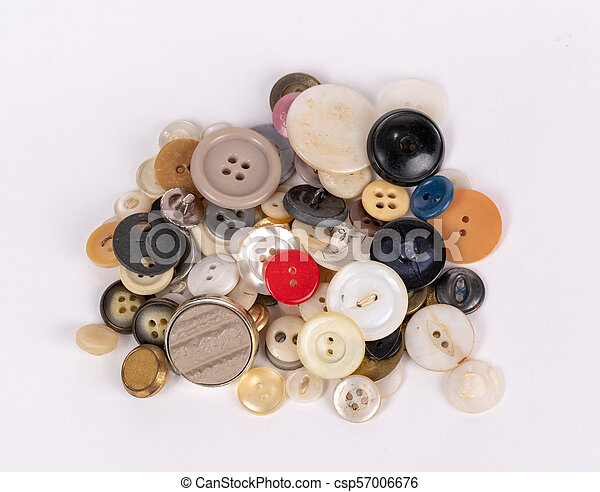Buttons isolated on the white background - csp57006676