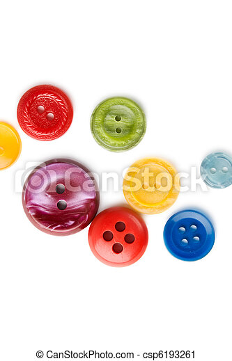 Buttons isolated on the white background - csp6193261