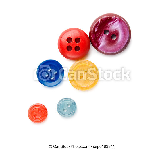 Buttons isolated on the white background - csp6193341