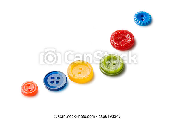Buttons isolated on the white background - csp6193347