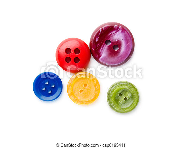 Buttons isolated on the white background - csp6195411