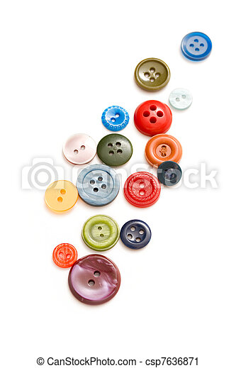 Buttons isolated on the white background - csp7636871