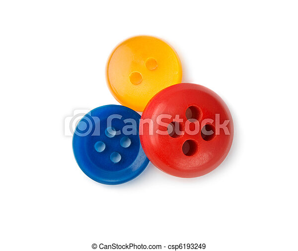 Buttons isolated on the white background - csp6193249