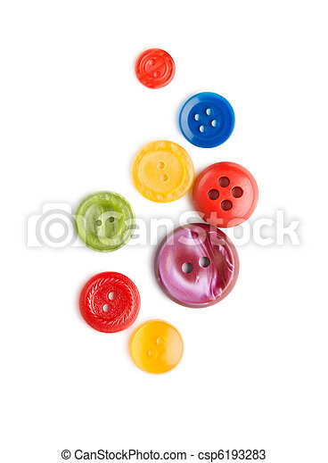 Buttons isolated on the white background - csp6193283