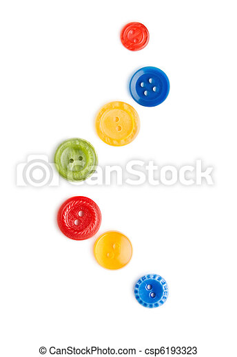 Buttons isolated on the white background - csp6193323