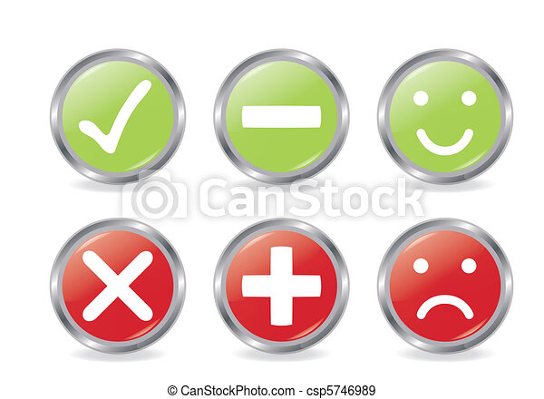 Buttons Of Validation Icons - csp5746989