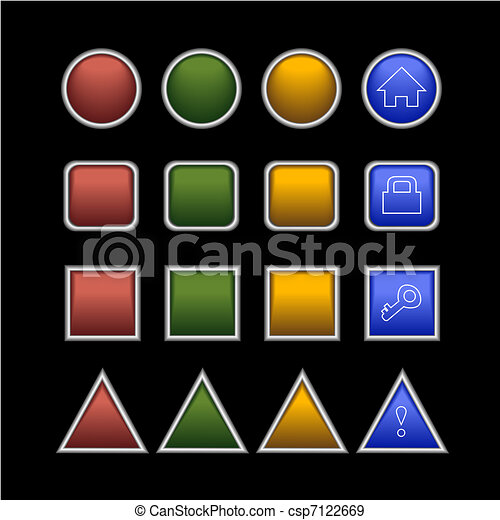buttons on black - csp7122669