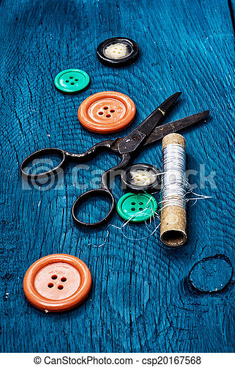 buttons on blue background - csp20167568
