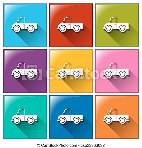 Buttons with cars - csp23363032