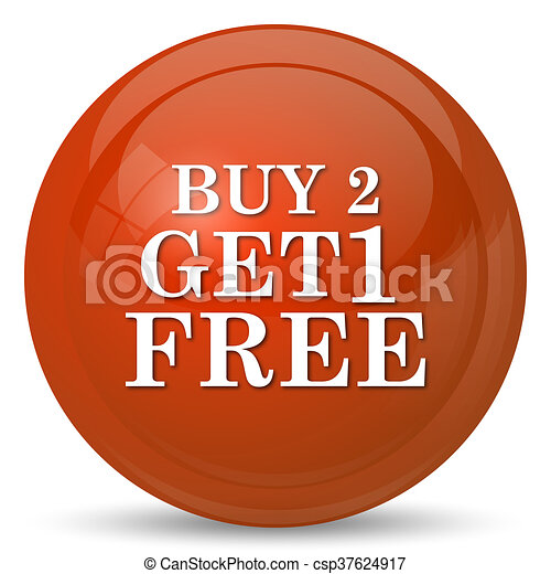 Buy 2 get 1 free offer icon - csp37624917