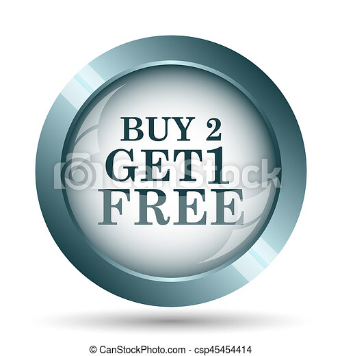 Buy 2 get 1 free offer icon - csp45454414
