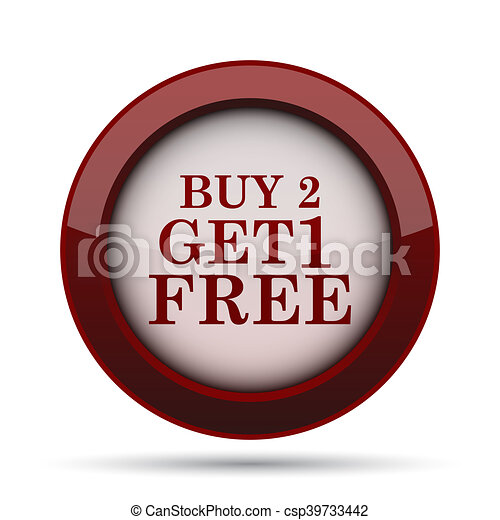 Buy 2 get 1 free offer icon - csp39733442