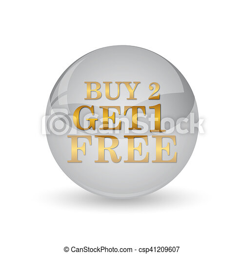 Buy 2 get 1 free offer icon - csp41209607