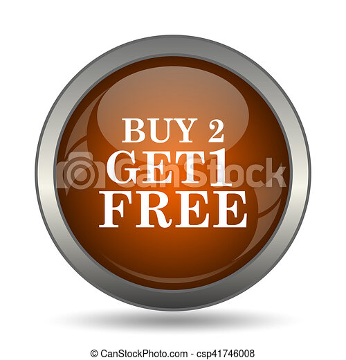 Buy 2 get 1 free offer icon - csp41746008