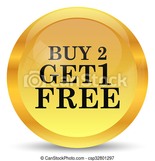 Buy 2 get 1 free offer icon - csp32801297