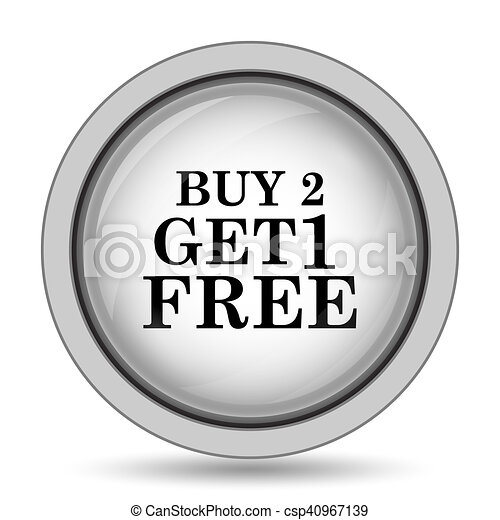 Buy 2 get 1 free offer icon - csp40967139