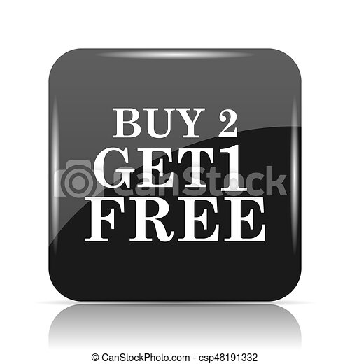 Buy 2 get 1 free offer icon - csp48191332