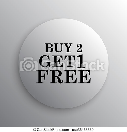 Buy 2 get 1 free offer icon - csp36463869