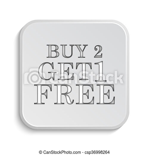 Buy 2 get 1 free offer icon - csp36998264