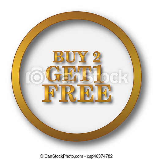 Buy 2 get 1 free offer icon - csp40374782