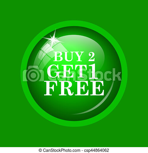 Buy 2 get 1 free offer icon - csp44864062