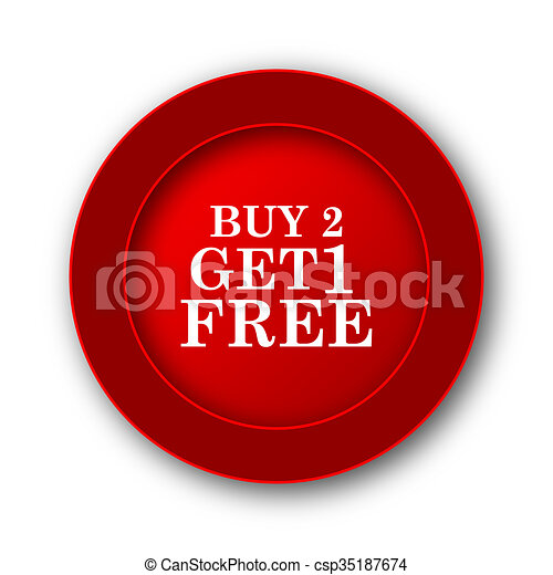 Buy 2 get 1 free offer icon - csp35187674