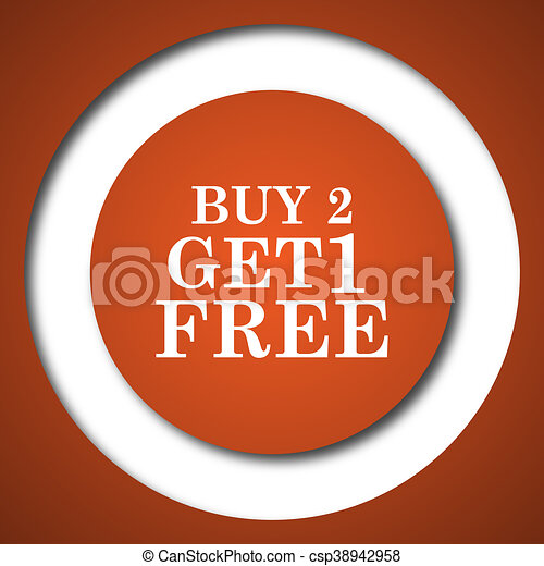 Buy 2 get 1 free offer icon - csp38942958