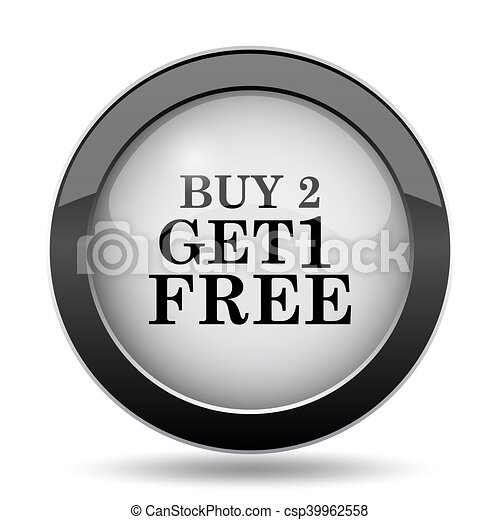 Buy 2 get 1 free offer icon - csp39962558