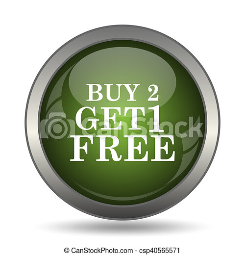 Buy 2 get 1 free offer icon - csp40565571