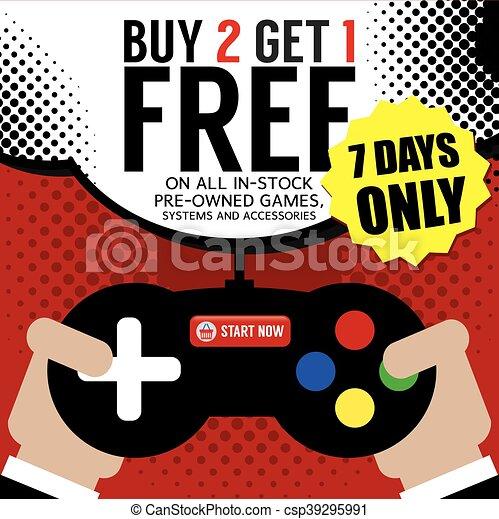 Buy 2 Get 1 Free Promotion Vector - csp39295991