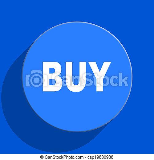 buy blue web flat icon - csp19830938