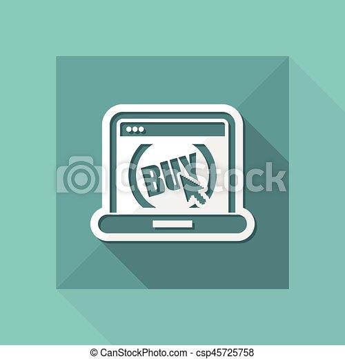 Buy button on website - csp45725758