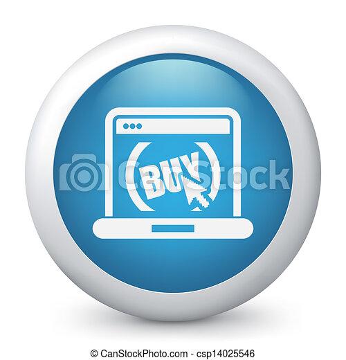 Buy button on website - csp14025546