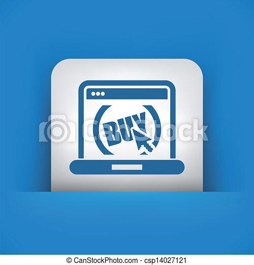 Buy button on website - csp14027121