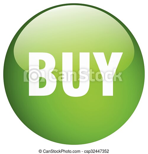 buy green round gel isolated push button - csp32447352