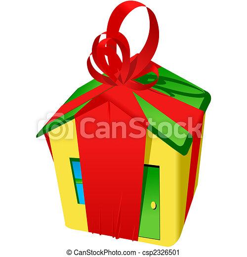 buy new house house like a gift rh canstockphoto com New Home Graphics New Home Graphics