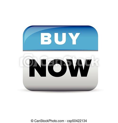 Buy now button blue vector - csp50422134