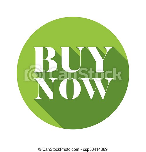 Buy Now button green round - csp50414369