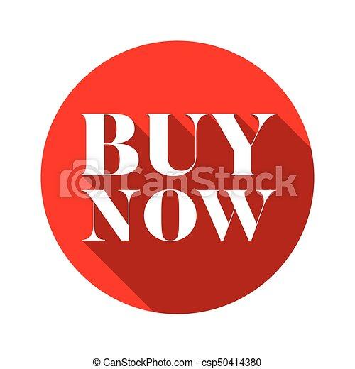 Buy Now button red round - csp50414380