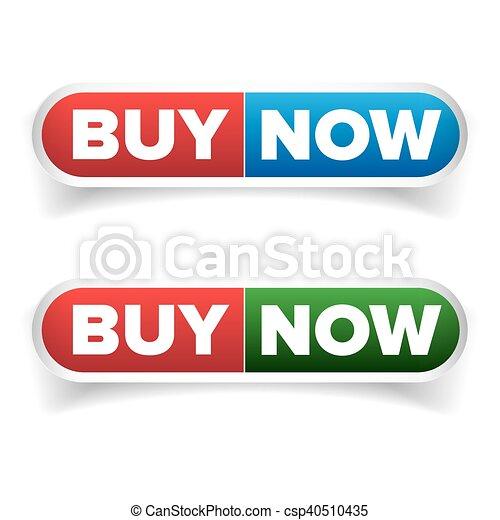 Buy Now button set vector - csp40510435